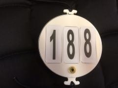 Kilpailunumero, pyöreä muovia, 2kpl