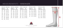 Serenade size chart