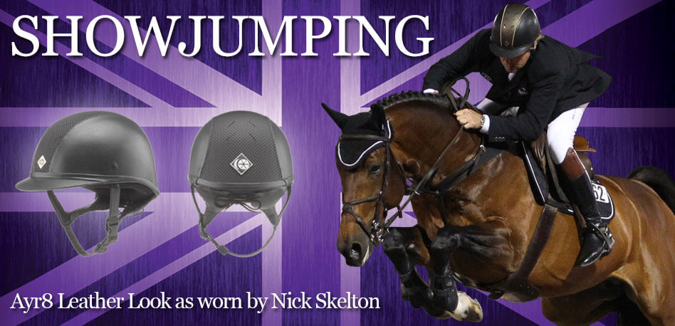 Charles Owen show jumping banner